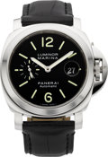 Timepieces:Wristwatch, Panerai OP 6553 Stainless Steel Luminor Marina Automatic. ...