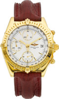 Timepieces:Wristwatch, Breitling Ref. K13047X Gold Self Winding Chronograph. ...