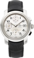 Timepieces:Wristwatch, Baume & Mercier Stainless Steel Capeland Chronograph. ...
