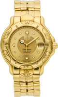 Timepieces:Wristwatch, Tag Heuer WH514 Gent's Massive 18k Gold Automatic Chronometer. ...