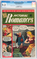 Golden Age (1938-1955):Romance, Pictorial Romances #16 (St. John, 1952) CGC NM- 9.2 Cream tooff-white pages....