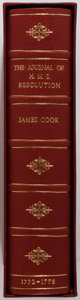Books:Fine Press & Book Arts, [Genesis Publications]. Captain James Cook. The Journal of theH. M. S. Resolution. Hedley: Genesis, 1981. One of 50...
