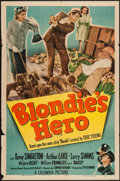 "Movie Posters:Comedy, Blondie's Hero (Columbia, 1950). One Sheet (27"" X 41""). Comedy.. ..."