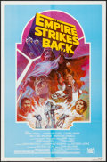 "Movie Posters:Science Fiction, The Empire Strikes Back (20th Century Fox, R-1982). One Sheet (27""X 41"") Light Blue Style. Science Fiction.. ..."