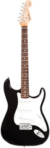 Musical Instruments:Electric Guitars, 1990s Fender 60's Tribute Stratocaster Partscaster Black Solid BodyElectric Guitar....