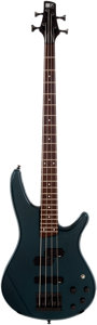 Musical Instruments:Bass Guitars, 2000s Ibanez SR400 Green Bass Guitar, Serial # C7040636....