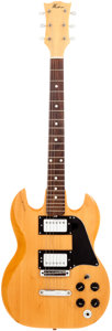 Musical Instruments:Electric Guitars, Circa 1981 Westone SG Copy Natural Solid Body Electric Guitar. ...