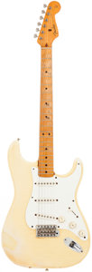 Musical Instruments:Electric Guitars, 1982 Fender '57 Re-Issue Stratocaster White Solid Body ElectricGuitar, Serial # V000917.. ...