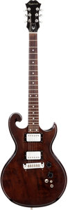 Musical Instruments:Electric Guitars, Late 1970s Epiphone SC-450 Scroll Brown Solid Body Electric Guitar....
