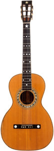 Musical Instruments:Acoustic Guitars, Early 1900's Washburn Natural Parlor Guitar. ...