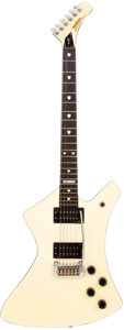 Musical Instruments:Electric Guitars, 1980's Washburn A-20V Howard Leese White Solid Body ElectricGuitar....
