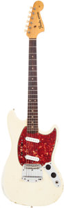 Musical Instruments:Electric Guitars, 1964 Fender Mustang White Solid Body Electric Guitar. ...