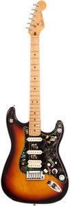 Musical Instruments:Electric Guitars, 1990 Fender Stratocaster Sunburst Solid Body Electric Guitar,Serial # N001920. ...