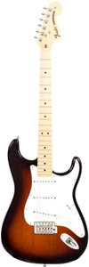 Musical Instruments:Electric Guitars, 2010 Fender '68 Re-Issue Stratocaster Sunburst Solid Body ElectricGuitar, Serial # US10087589. . ...