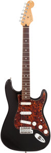 Musical Instruments:Electric Guitars, 1992 Fender Stratocaster Black Solid Body Electric Guitar, Serial #FN203329....