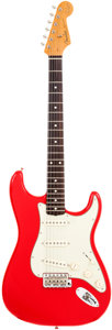 Musical Instruments:Electric Guitars, 2003 Fender Mark Knopfler Signature Stratocaster Red Solid BodyElectric Guitar, Serial # SE00225. ...