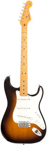 Musical Instruments:Electric Guitars, 1982 Fender Stratocaster '57 Re-Issue Stratocaster Sunburst SolidBody Electric Guitar, Serial # V001782....