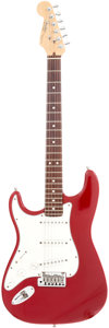Musical Instruments:Electric Guitars, 1991 Fender Stratocaster Left-Handed Red Solid Body Electric Guitar, Serial # N1044997....