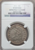 Bust Half Dollars: , 1813 50C -- Improperly Cleaned -- NGC Details. VF. NGC Census:(13/733). PCGS Population (23/585). Mintage: 1,241,903. Numi...