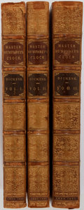 Books:Literature Pre-1900, Charles Dickens. Master Humphries Clock. London: Chapman andHall, 1840. First edition. Bound from parts (many wrapp... (Total:3 Items)