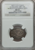 Expositions and Fairs, 1893 World's Columbian Exposition, Elongated 1887 Dime, MS63 NGC.Eglit-373....
