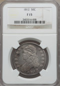 Bust Half Dollars: , 1812 50C Fine 15 NGC. NGC Census: (17/787). PCGS Population(22/949). Mintage: 1,628,059. Numismedia Wsl. Price for problem...