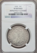 Bust Half Dollars: , 1808 50C -- Improperly Cleaned -- NGC Details. VF. NGC Census:(19/423). PCGS Population (32/552). Mintage: 1,368,600. Numi...
