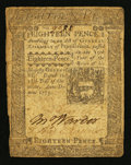 Colonial Notes:Pennsylvania, Pennsylvania October 25, 1775 18d Very Good-Fine.. ...