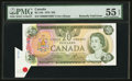 Canadian Currency: , BC-54b $20 1979 with Butterfly Fold Error. ...
