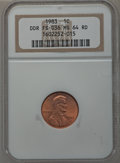 Lincoln Cents, 1983 1C Doubled Die Reverse, FS-801(FS-036) MS64 Red NGC. NGCCensus: (80/481). PCGS Population (309/908). Numismedia Wsl....