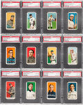 Baseball Cards:Lots, 1909-11 T206 White Border Tobacco PSA Graded Collection (12). ...