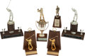 Baseball Collectibles:Others, 1963-84 Stan Musial Presentational Trophies Lot of 6....