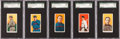 Baseball Cards:Lots, 1909-11 T206 Sweet Caporal or Tolstoi SGC Graded HoF Collection(5). ...