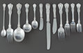 Silver Flatware, American:Tiffany, A FIFTY-TWO PIECE TIFFANY & CO. ENGLISH KING PATTERNSILVER FLATWARE SERVICE FOR FIVE. Tiffany & Co., New York, ...(Total: 52 Items)