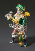 Silver Smalls, A TIFFANY & CO. SILVER AND ENAMEL PIRATE CLOWN WITH MONKEYDESIGNED BY GENE MOORE. Tiffany & Co., New York, New York,circa ...