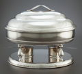 Silver Holloware, American, AN ITALIAN SILVER OVAL BUFFET MEAT SERVER FOR TIFFANY & CO. .Milan, Italy, 20th century. Marks: (star-110-MI), GM (int... (Total: 2 Items)