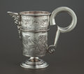 Silver Holloware, Continental:Holloware, A CONTINENTAL SILVER EWER. Probably Spain, 19th century. Marks:(fleur-de-lis), (effaced mark). 8-3/4 inches high (22.2 cm)...