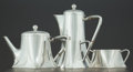 Silver Holloware, Continental:Holloware, A FOUR PIECE KOCH & BERGFELD GERMAN SILVER TEA AND COFFEESERVICE . Koch & Bergfeld, Bremen, Germany, circa 1920. Marks:(ch... (Total: 4 Items)