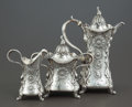 Silver Holloware, American:Coffee Pots, A THREE PIECE WHITING SILVER COFFEE SERVICE . Whiting ManufacturingCompany, New York, New York, circa 1900. Marks: (W with ... (Total:3 Items)