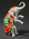Silver Smalls:Other , A TIFFANY & CO. SILVER AND ENAMEL CIRCUS ELEPHANT DESIGNED BYGENE MOORE. Tiffany & Co., New York, New York, circa 1990.Gen...