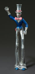 Silver Smalls:Other , A TIFFANY & CO. SILVER AND ENAMEL CIRCUS TALL MAN DESIGNED BYGENE MOORE. Tiffany & Co., New York, New York, circa 1990.Gen...