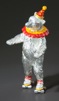 Silver Smalls:Other , A TIFFANY & CO. SILVER AND ENAMEL CIRCUS BEAR ON ROLLER SKATESDESIGNED BY GENE MOORE . Tiffany & Co., New York, New York,c...
