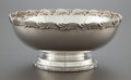 Silver Holloware, American:Bowls, A TIFFANY & CO. WAVE EDGE PATTERN SILVER FOOTED BOWL.Tiffany & Co., New York, New York, designed 1884. Marks: ...