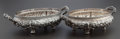 Silver Holloware, American:Vegetable Dish, A PAIR OF DOMINICK AND HAFF SILVER REPOUSSÉ TWO-HANDLED SERVINGDISHES. Dominick & Haff, New York, New York, circa 1881. Mar...(Total: 2 Items)
