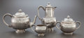 Silver Holloware, Continental:Holloware, A FOUR PIECE ODIOT FRENCH SILVER TEA AND COFFEE SERVICE . Odiot,Paris, France, circa 1890. Marks to coffee pot: ODIOT, O...(Total: 4 )
