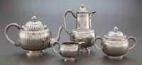 A FOUR PIECE ODIOT FRENCH SILVER TEA AND COFFEE SERVICE Odiot, Paris, France, circa 1890 Marks to coffee pot: