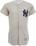Baseball Collectibles:Uniforms, 1957 Enos Slaughter Game Worn New York Yankees Jersey....