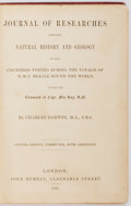 Books:Natural History Books & Prints, Charles Darwin. Journal of Researches into the Natural Historyand Geology of the Countries Visited During the Voyages o...