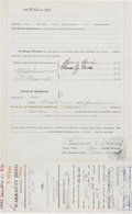 Autographs:Inventors, Henry Ford and Clara Ford Contract for a Sale to a Railroad CompanySigned....