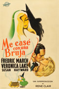 """Movie Posters:Fantasy, I Married a Witch (Transocean, 1942). Argentinean Poster (29"""" X 43"""").. ..."""